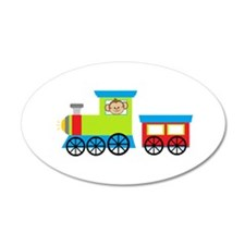 Monkey Driving a Train Wall Decal