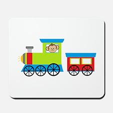 Monkey Driving a Train Mousepad