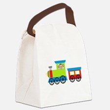 Monkey Driving a Train Canvas Lunch Bag