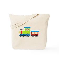 Monkey Driving a Train Tote Bag