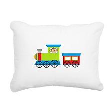 Monkey Driving a Train Rectangular Canvas Pillow
