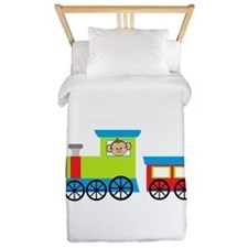 Monkey Driving a Train Twin Duvet