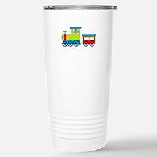 Monkey Driving a Train Travel Mug