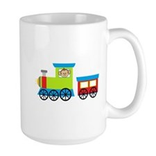 Monkey Driving a Train Mugs