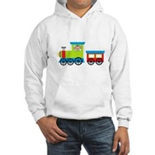 Monkey Driving a Train Hoodie