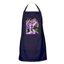Hawaiian Orchids Apron (dark)