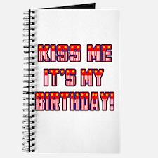 Patriotic Kiss Me Birthday Journal