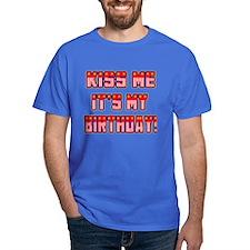 Patriotic Kiss Me Birthday T-Shirt
