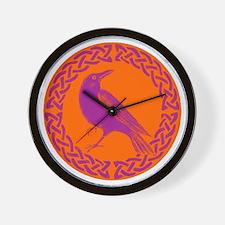 Cute Celtic crow Wall Clock