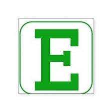 Green Block Letter E Sticker