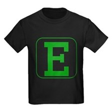 Green Block Letter E T-Shirt