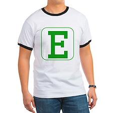 Green Block Letter E T-Shirt