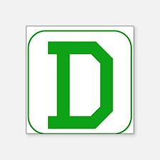 Green Block Letter D Sticker