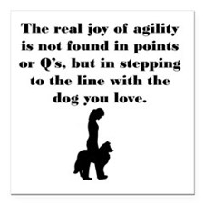 """The Joy of Agility Square Car Magnet 3"""" x 3"""""""