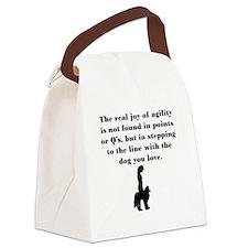 The Joy of Agility Canvas Lunch Bag
