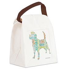 Random Agility Words Canvas Lunch Bag