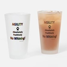 Agility - No Whining! Drinking Glass