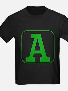 Green Block Letter A T-Shirt