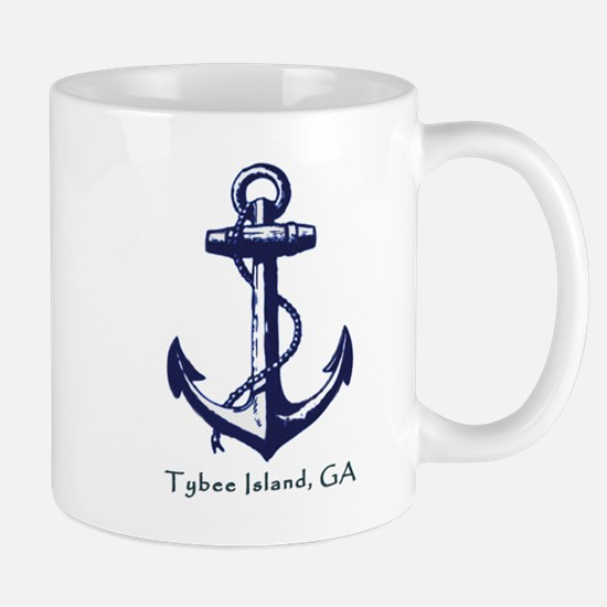 Tybee Island, Ga Anchor Coffee Mug Mugs