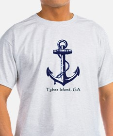 Tybee Island, GA Anchor T-Shirt