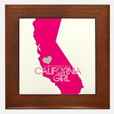 ALWAYS a California Girl Framed Tile