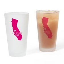 ALWAYS a California Girl Drinking Glass