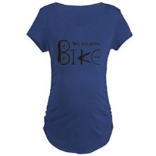 Ride The Trail Bike Graffiti Maternity T-Shirt