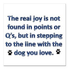 "The Real Joy... Square Car Magnet 3"" x 3"""