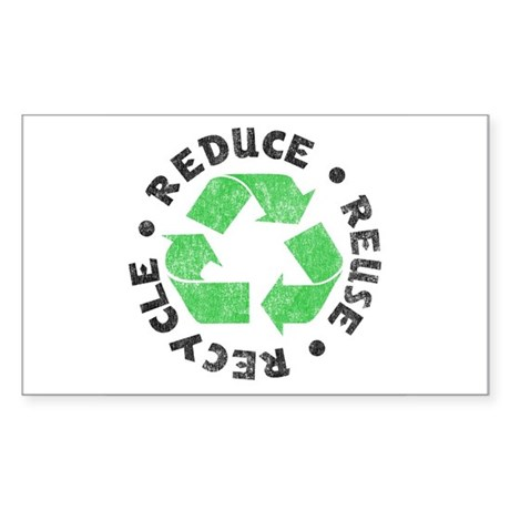 Recycle! Rectangle Sticker