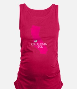 CALIFORNIA GIRL w HEART [4] Maternity Tank Top