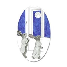 Daily Doodle 4 Rabbit Moon Wall Sticker