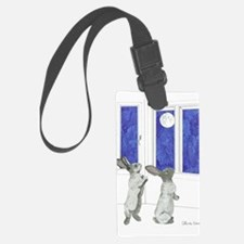 Daily Doodle 4 Rabbit Moon Luggage Tag