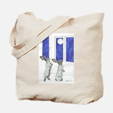 Daily Doodle 4 Rabbit Moon Tote Bag
