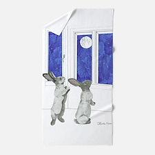 Daily Doodle 4 Rabbit Moon Beach Towel