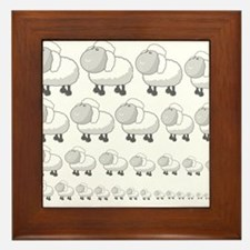 Counting the sheeps Framed Tile
