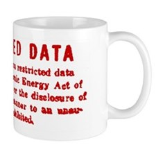 Restricted Data Stamp Mug Mugs