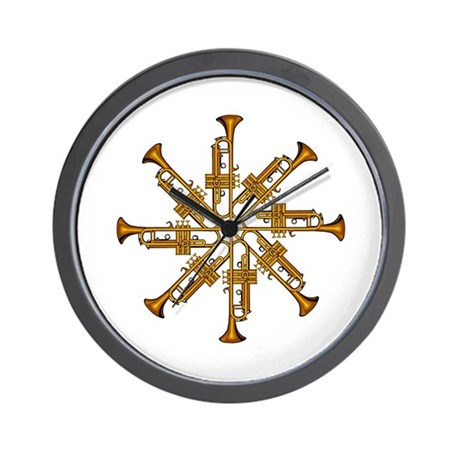 Trumpet Flower Wall Clock