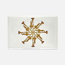 Trumpet Flower Rectangle Magnet
