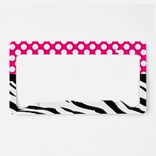 Cute Hot pink zebra License Plate Holder