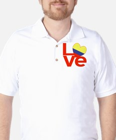 Red Colombia LOVE Golf Shirt