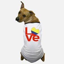 Red Colombia LOVE Dog T-Shirt