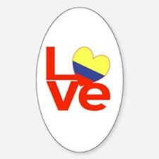 Red Colombia LOVE Decal