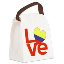 Red Colombia LOVE Canvas Lunch Bag