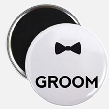 Groom with bow tie Magnets
