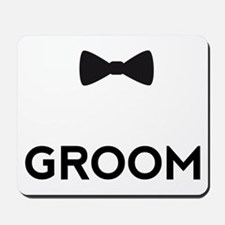 Groom with bow tie Mousepad