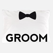 Groom with bow tie Pillow Case