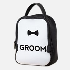 Groom with bow tie Neoprene Lunch Bag