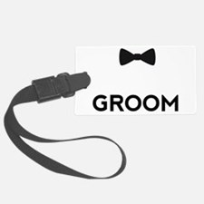 Groom with bow tie Luggage Tag