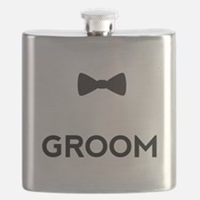 Groom with bow tie Flask
