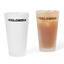 Colombia Hashtag Drinking Glass